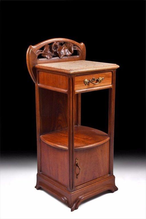 Art Nouveau Wooden End Table c. 1910