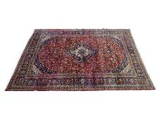 Kashan Rug With Floral Design