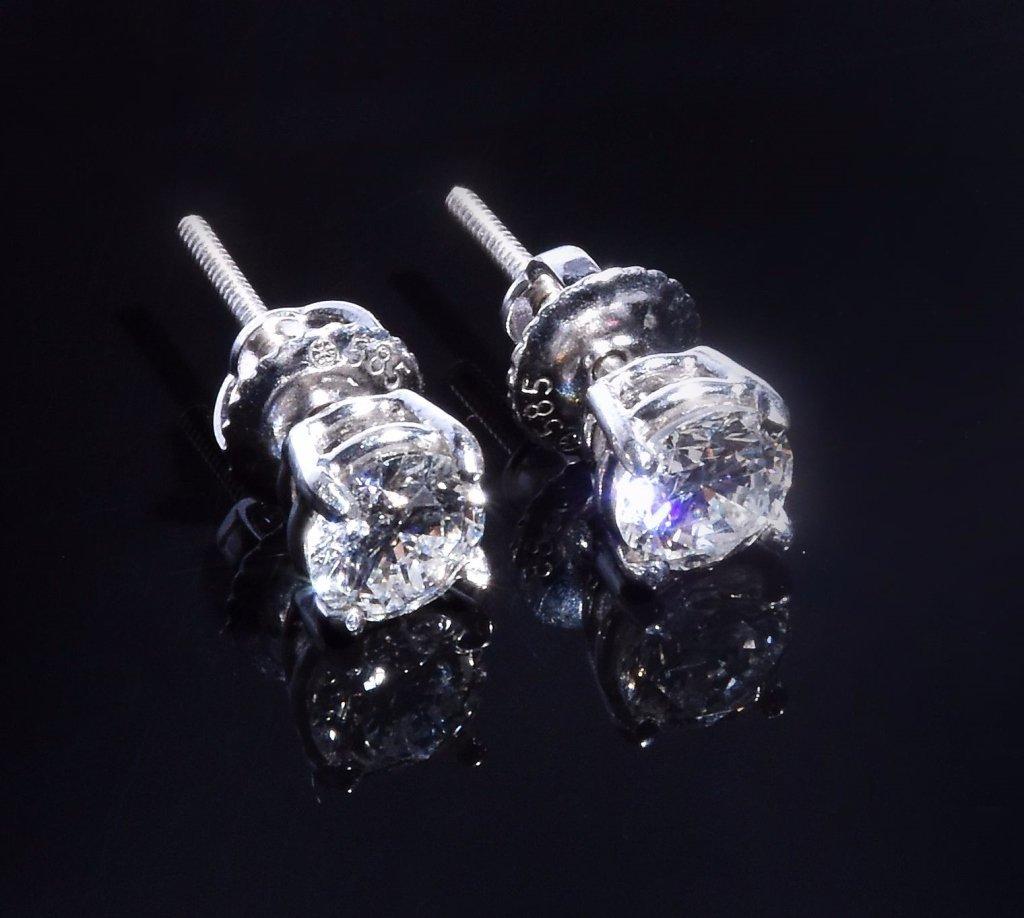 Half Karat Diamond Earrings