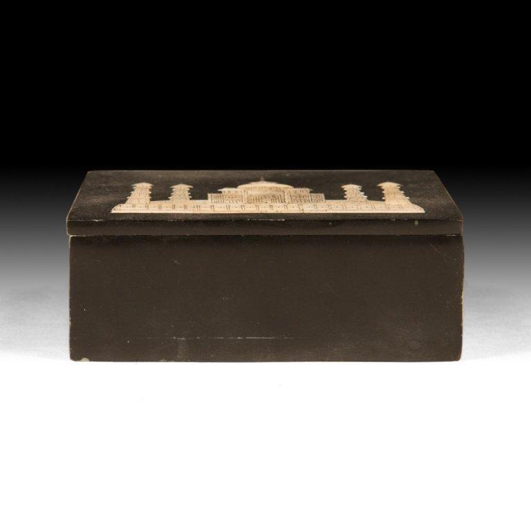 Mother of Pearl Inlaid Jewelry Box with Taj Mahal