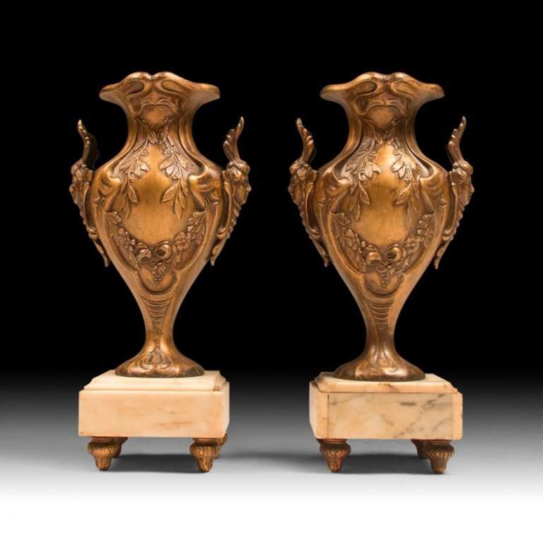 Pair of Late 19th c. Louis-style XVI Urns