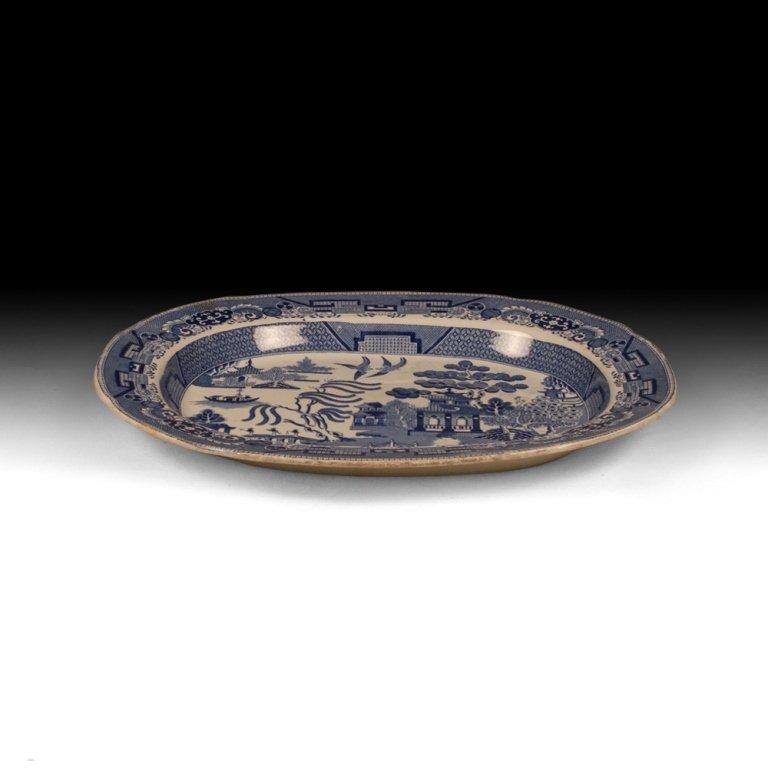 Dutch Blue and White Porcelain Plate