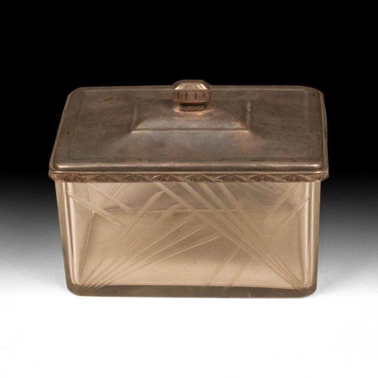 Silver-Plated Crystal Jewelry Box