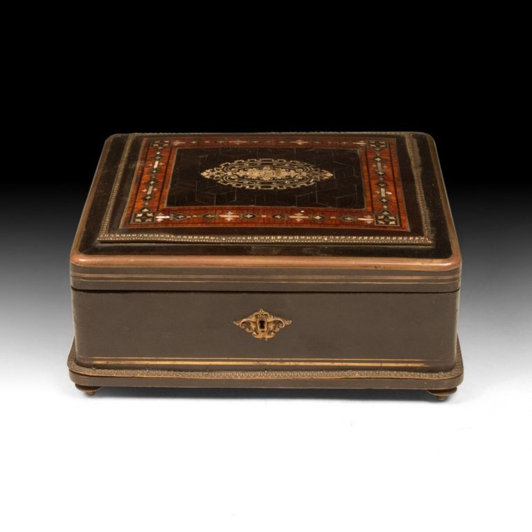 Napoleon III Mother of Pearl Inlaid Box