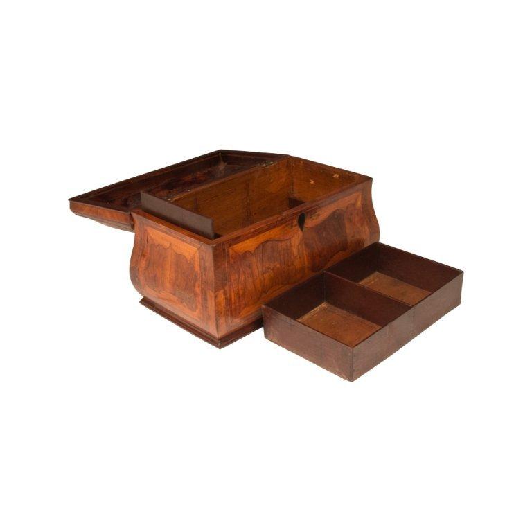 18th c. Inlaid Wooden Jewelry Box
