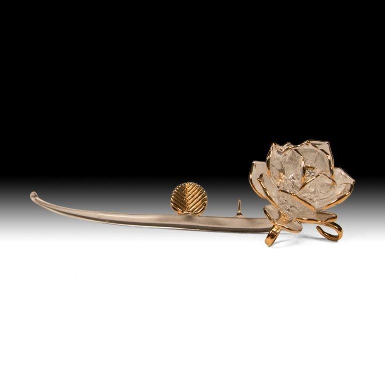 Gilt Glass Rose