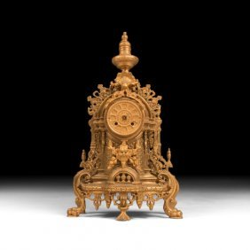 Louis Xvi Gilt Mantle Clock