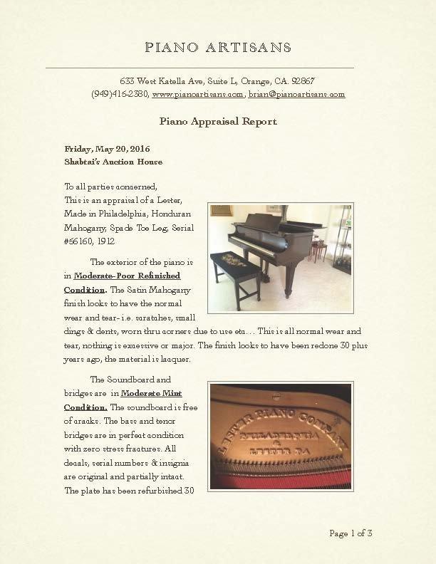 Lester Baby Grand Piano circa 1912 - 9