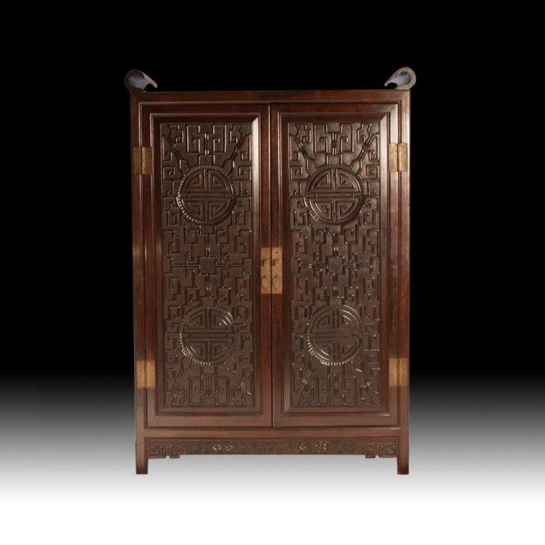 1930s Mahogany Chinese Wardrobe