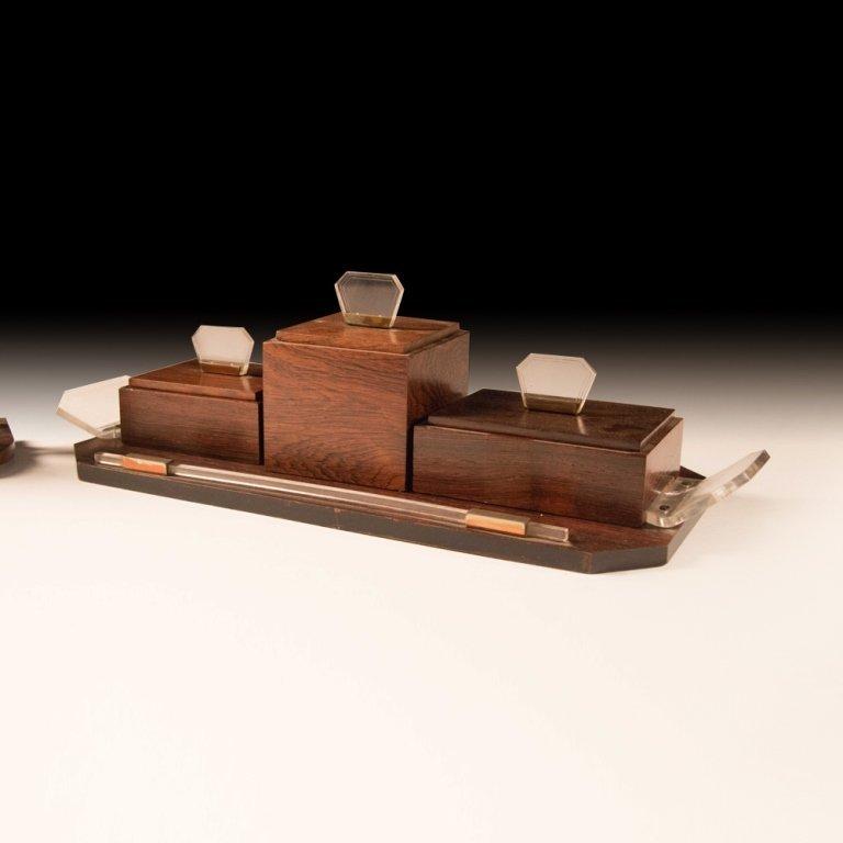 1920's Art Deco-style Macassar Wood Toiletries - 3