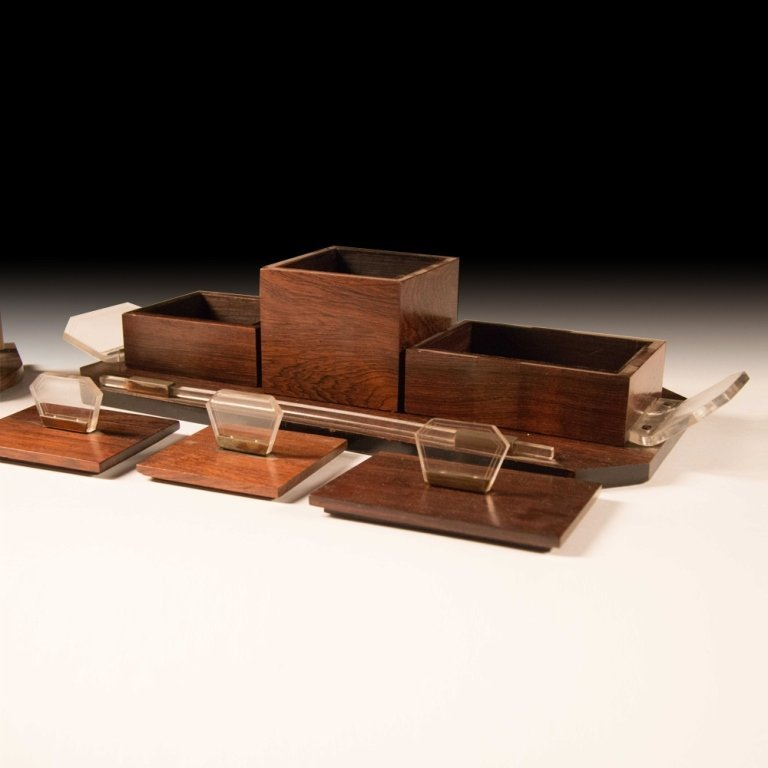 1920's Art Deco-style Macassar Wood Toiletries - 4