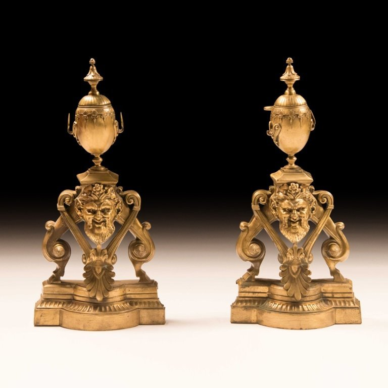 Pair of Renaissance-Style Bronze Urns/Bookends