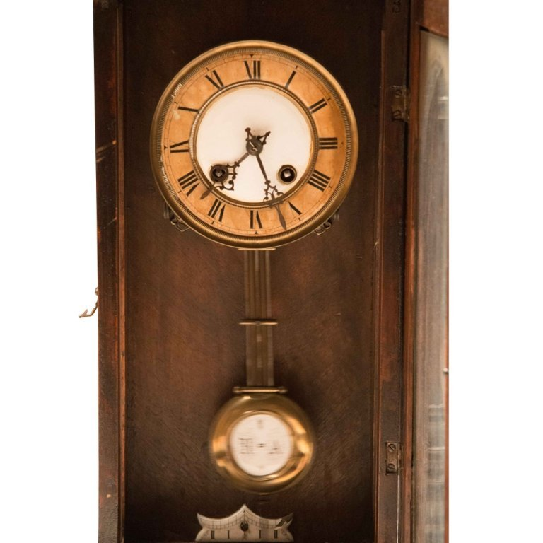 Henry II-style Antique Walnut Wall Clock - 3