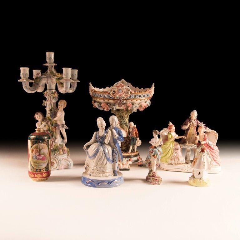 Lot of Seven Porcelain Figurines
