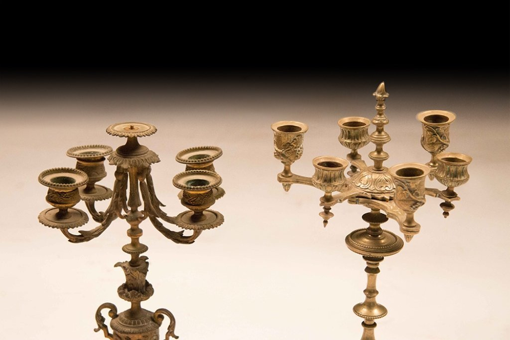 Two Bronze 19th Century Candelabra - 2