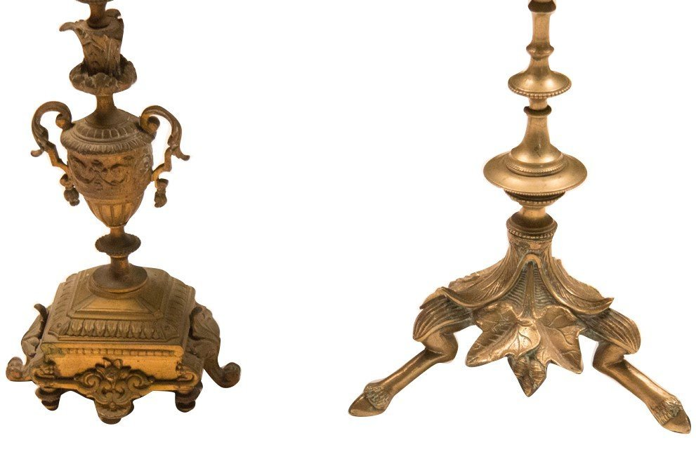 Two Bronze 19th Century Candelabra - 3