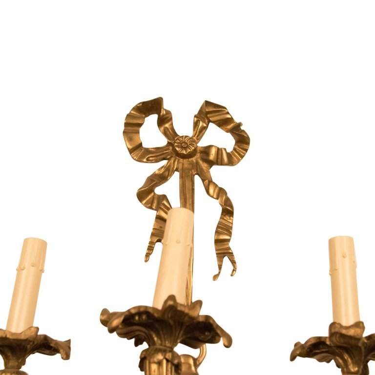 Louis XVI-style Mid-Late 20th Cent. Bronze Sconce - 2