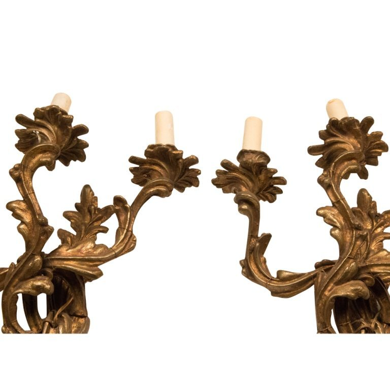 Pair of Louis XV-style French Bronze Wall Sconces - 2