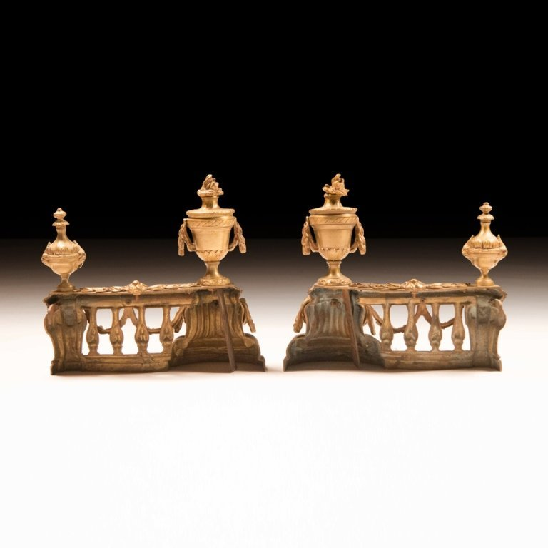 Pair of Fireplace Chenets Louis XVI-style - 3
