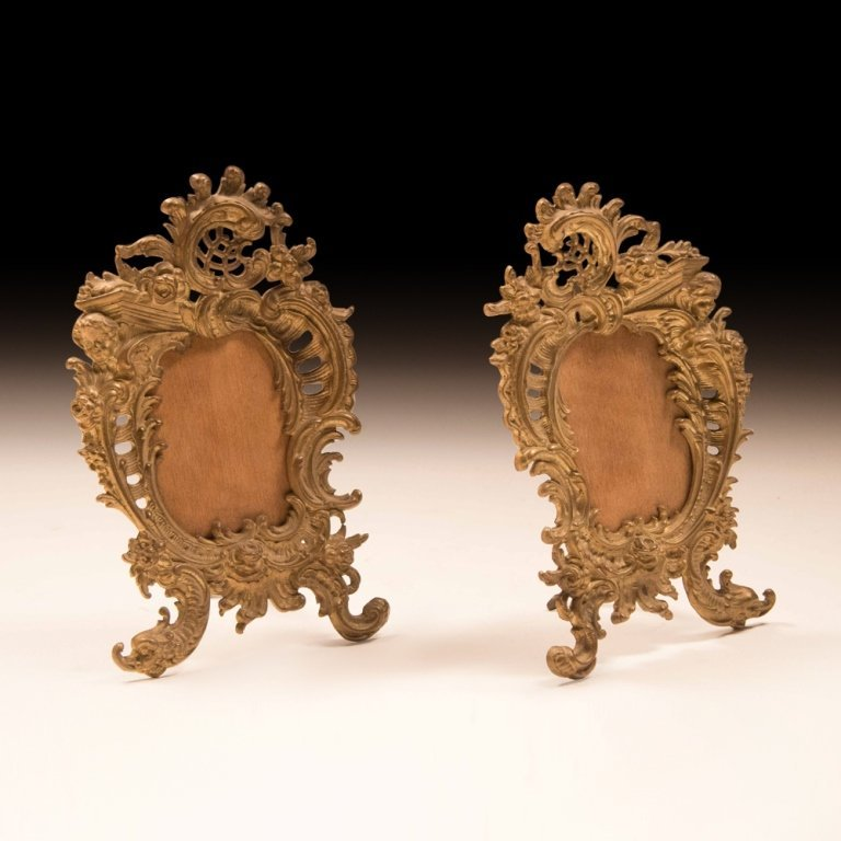 19th Cent. Gold Plated Louis XV-style Table Frames