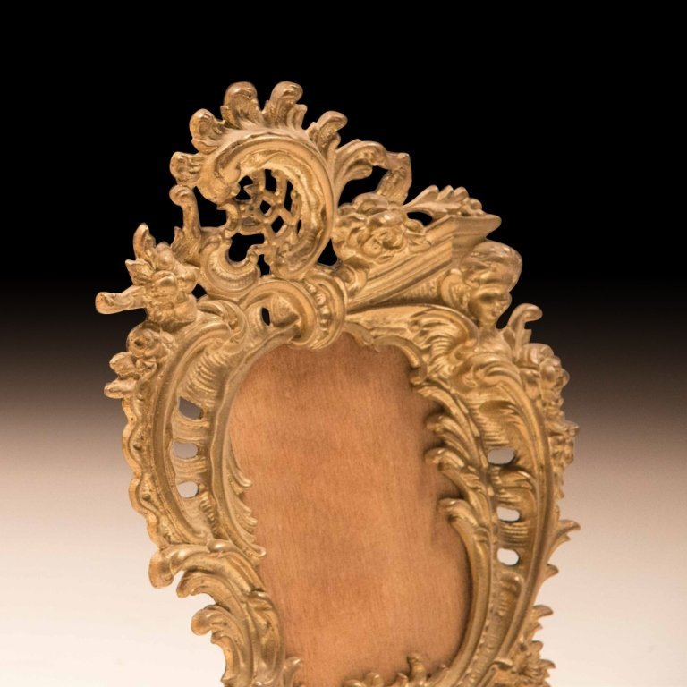 19th Cent. Gold Plated Louis XV-style Table Frames - 2