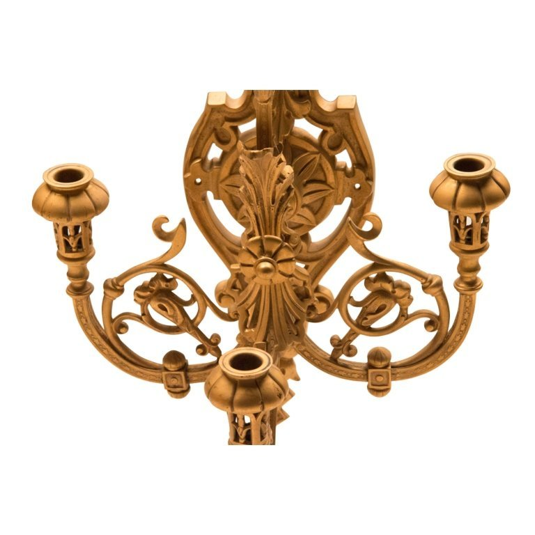 Large Renaissance-style Bronze Wall Sconce - 2