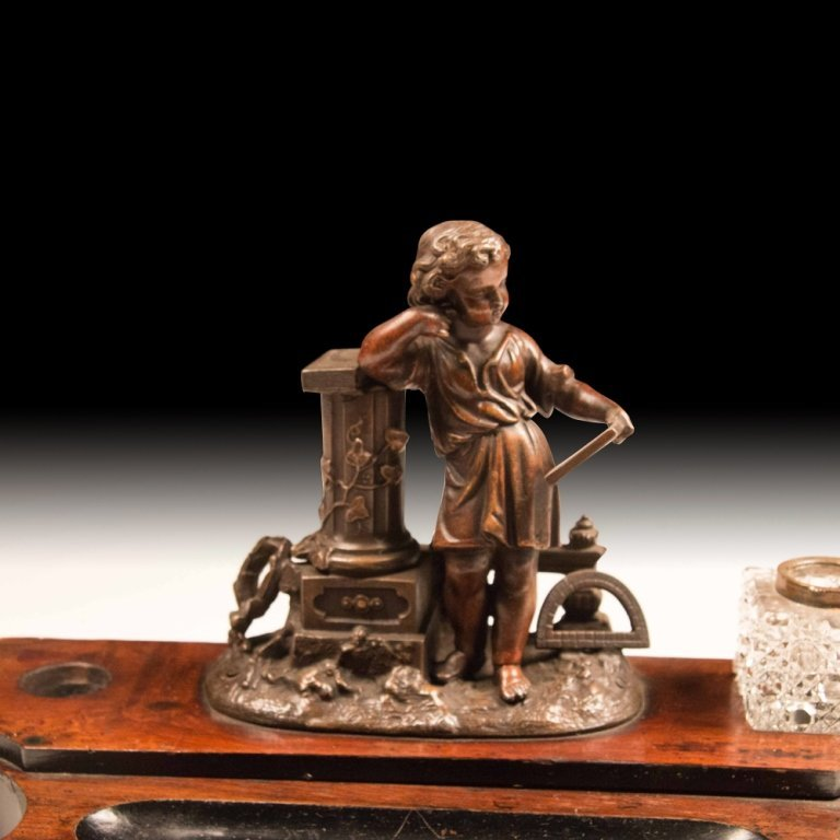 19th c. Continental Inkwell Desk Set - 2