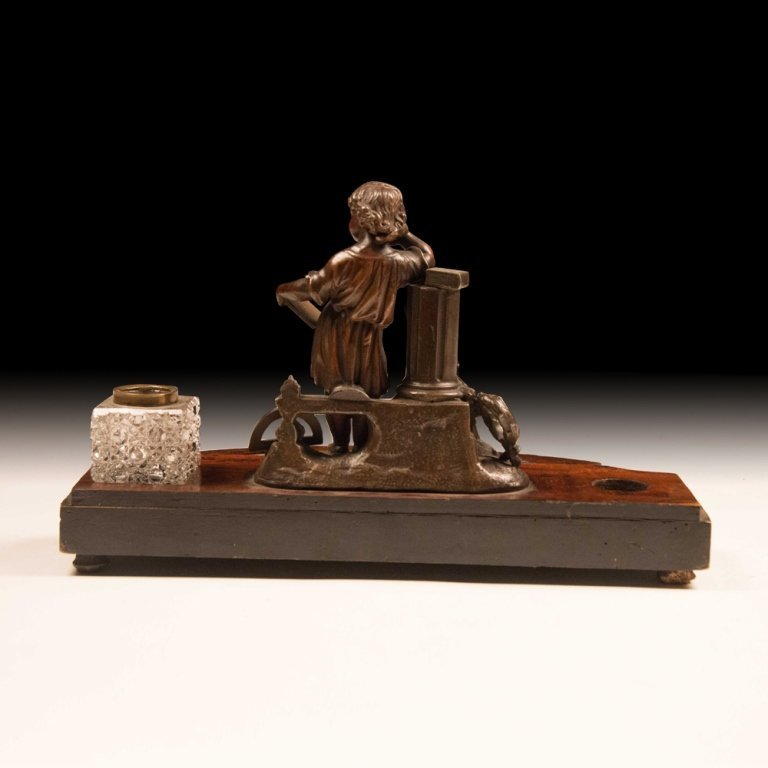 19th c. Continental Inkwell Desk Set - 4