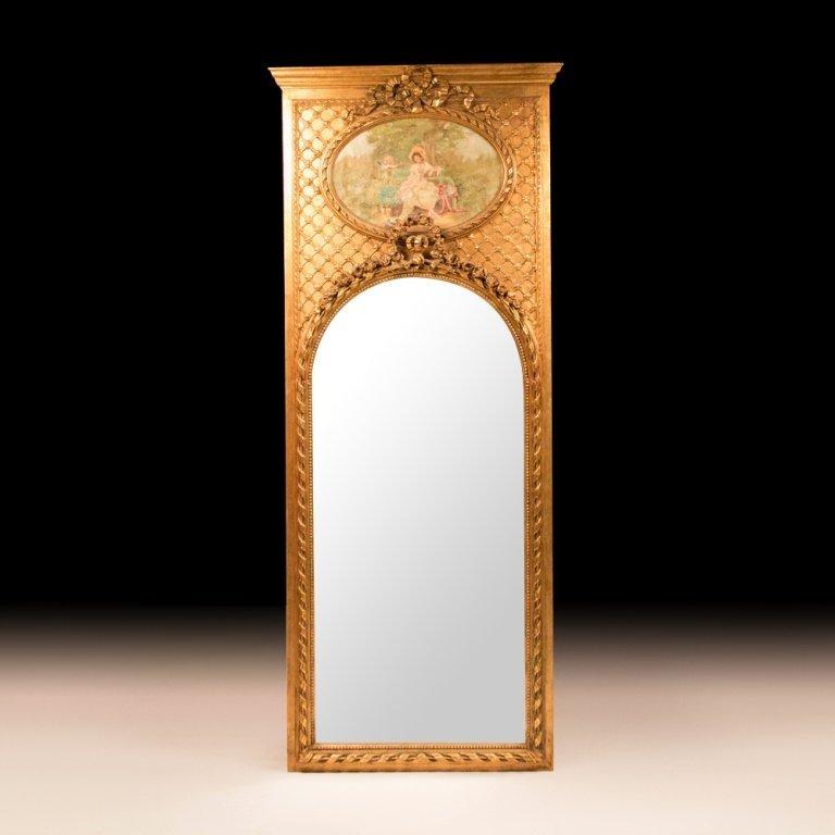 Circa 19th Century Louis XVI-style Tall Trumeau