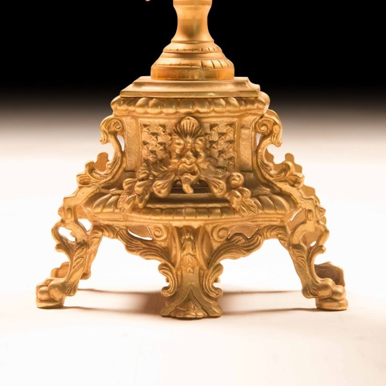Louis XVI-style Bronze Gold Plating Candelabras - 3