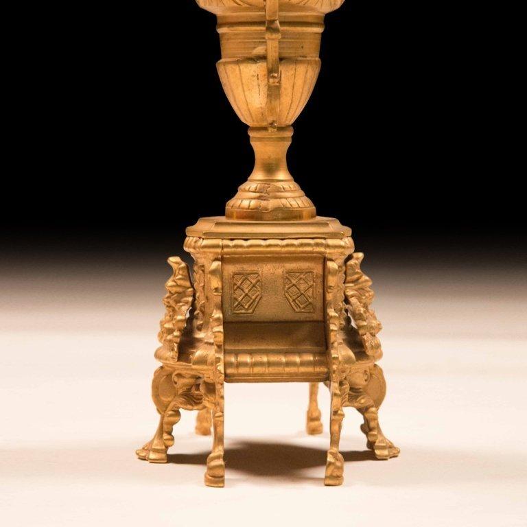 Louis XVI-style Bronze Gold Plating Candelabras - 4