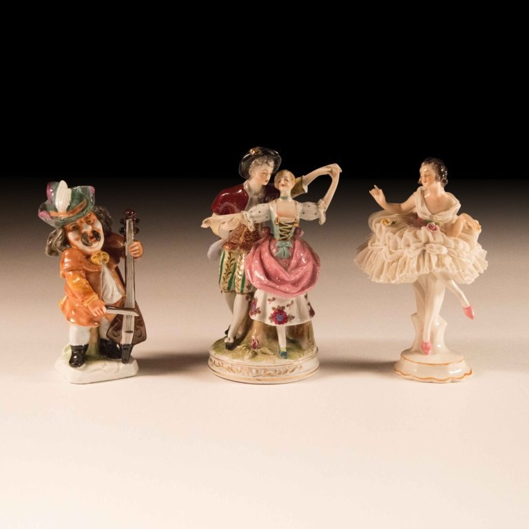 Three Mid 20th Century Dresden Porcelain Figurines