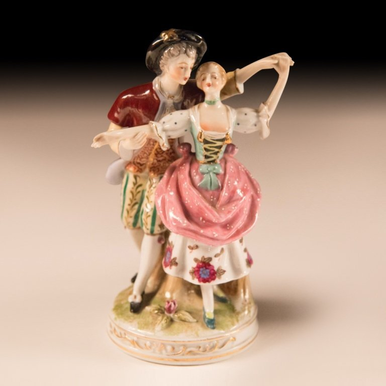 Three Mid 20th Century Dresden Porcelain Figurines - 3