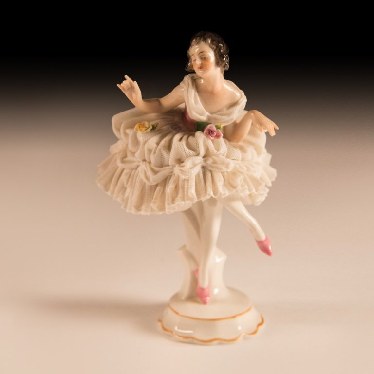 Three Mid 20th Century Dresden Porcelain Figurines - 4