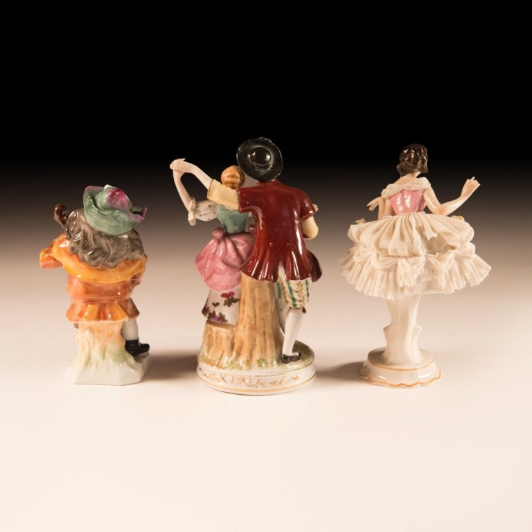 Three Mid 20th Century Dresden Porcelain Figurines - 6