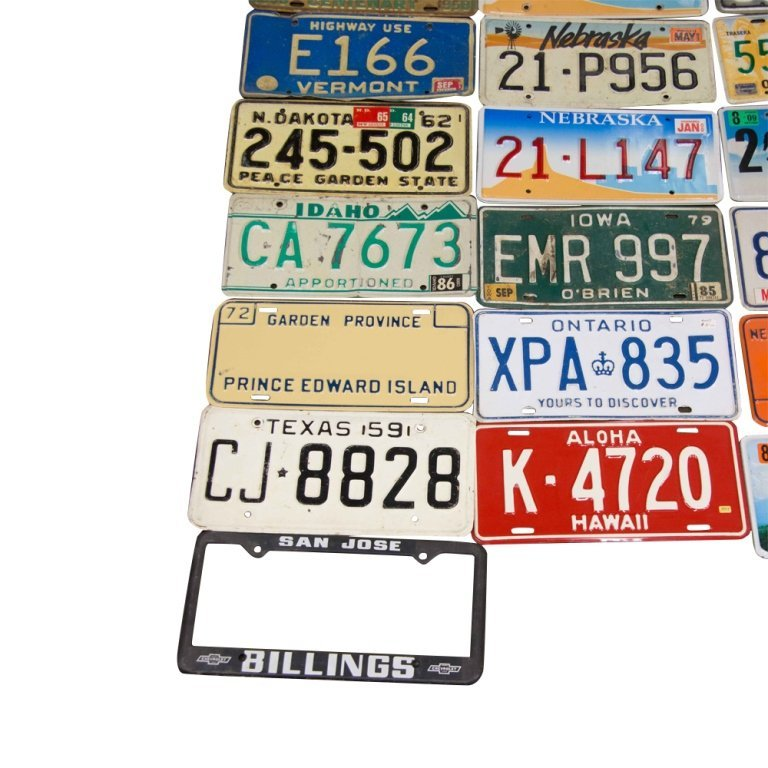 Lot of Over 50 Car License Plates, c. 1950s-1980s - 5