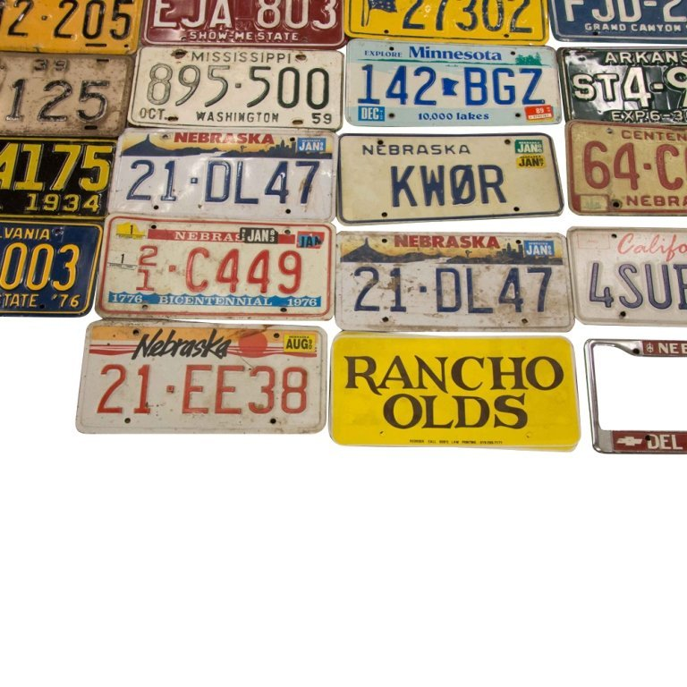 Lot of Over 50 Car License Plates, c. 1930s-1980s - 3