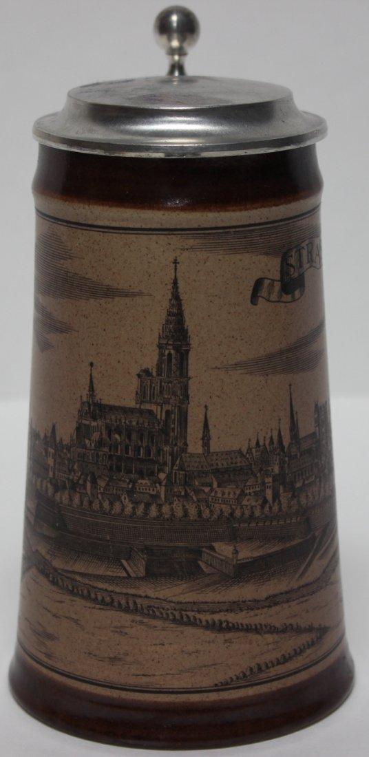 German Lidded Beer Stein - Marzi Remy