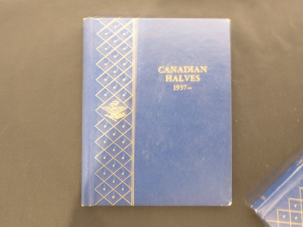 Canadian Coins books(1922-1978) _50, 5, 1 cent