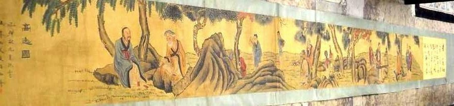 Chinese Ming D. Long&Hand scroll Painting by Wen Boren