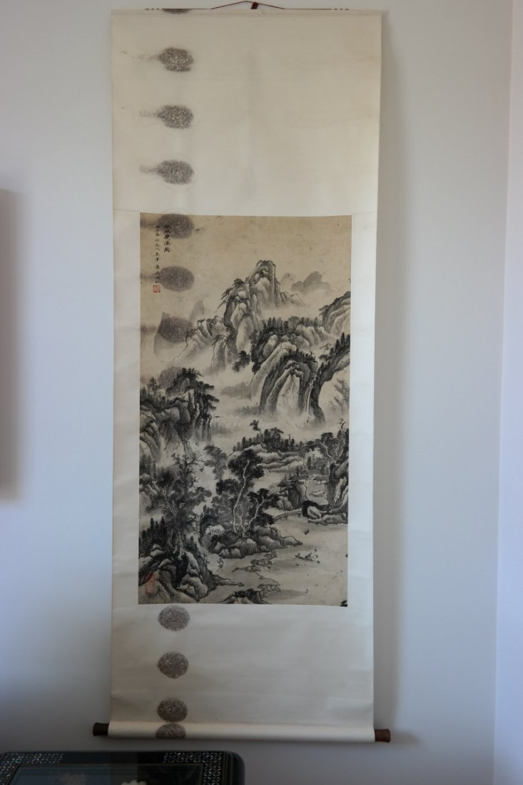 Chinese painting landscape by Oh Fu Fang