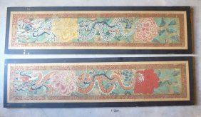 Chinese Dragons (Red&Blue) colorful painting set