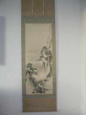 Japanese painting landscape by KanoTanrei (1857-1931)