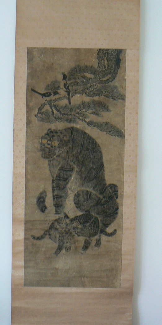 Korean painting Minhwa 'Tiger family&Magpies'