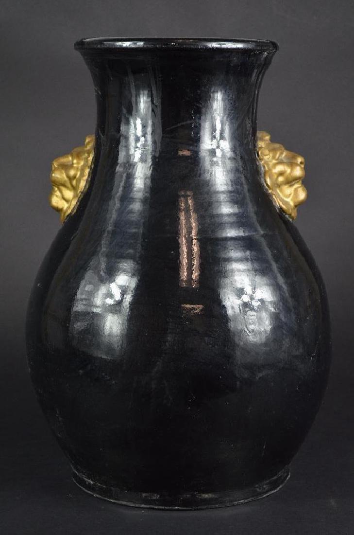Chinese Song D. procelain glazed black vase