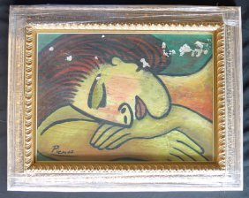 Pablo Picasso Oil Painting / Certificate / 1951
