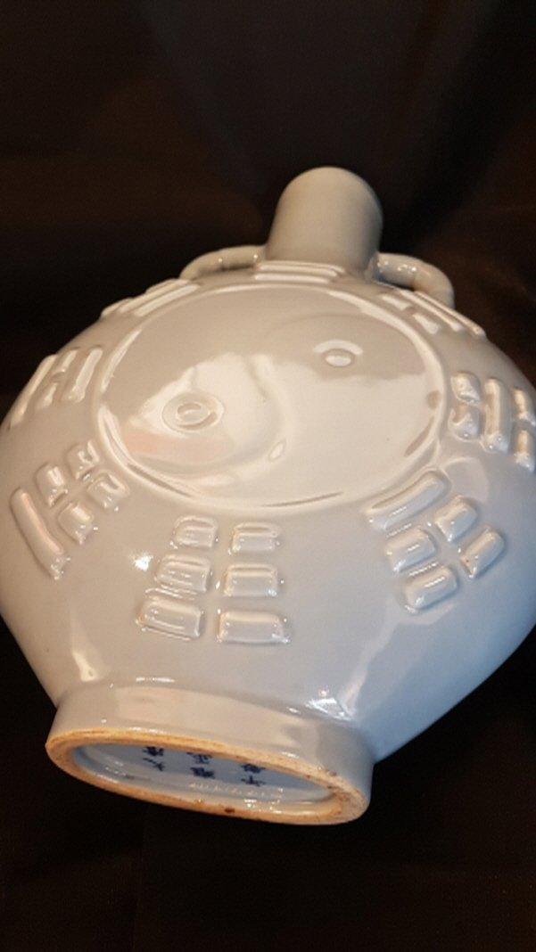 Chinese porcelain 2 moon flasks vase set,Yongzheng - 2