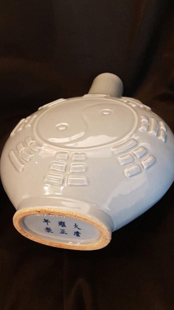 Chinese porcelain 2 moon flasks vase set,Yongzheng - 9