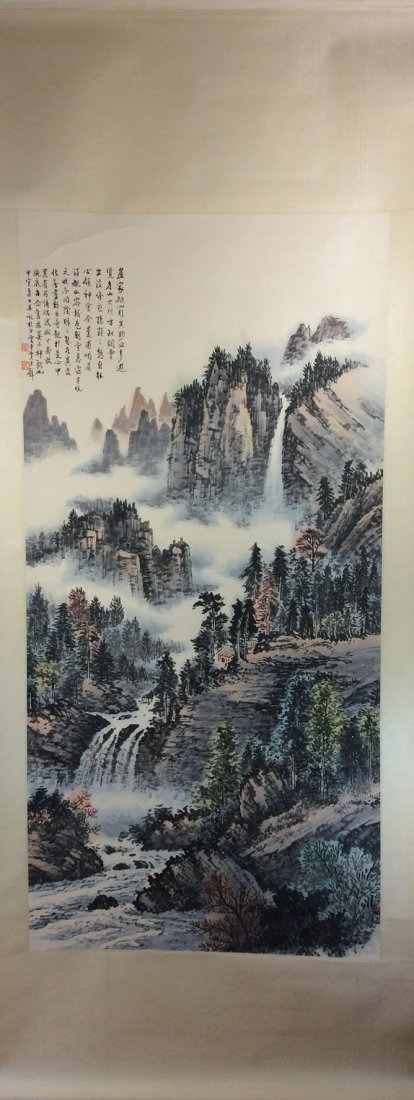 Chinese original landscape by Huangjunbi(1898-1991)
