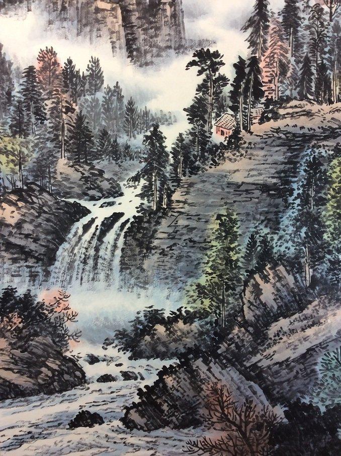 Chinese original landscape by Huangjunbi(1898-1991) - 4